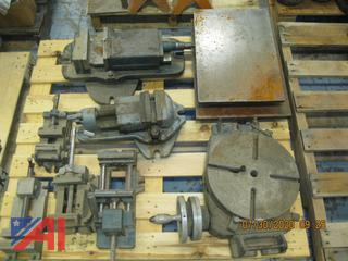Vises, Rotary Table and Iron Plate