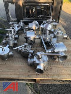 Pallet of Stainless Steel Valves and More