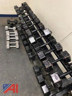Various Hex Dumbbell Weights