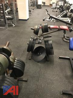 Various Weight Plates & Weight Trees