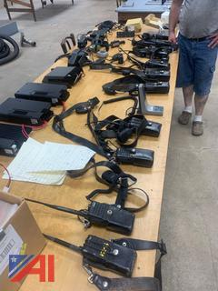 (#13) Large Lot of Kenwood Truck Transceivers Radios and More