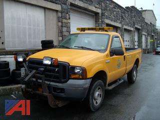 2006 Ford F250 Super Duty Pickup Truck with Plow