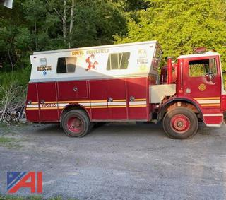 1989 Mack MR688 Cab Over Rescue Truck