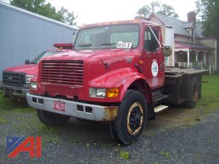 1995 International 4900 Flat Bed Truck