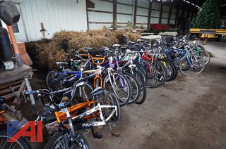 Large Group of Assorted Bicycles