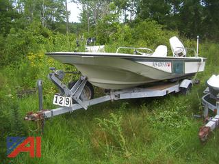 Boston Whaler 16' Boat and Trailer