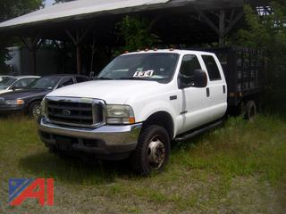 2004 Ford F450 Super Duty Rack Truck with Plow and Lift Gate