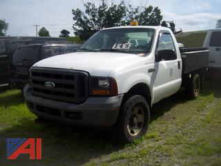 2005 Ford F250 XL Super Duty Pickup Truck with Plow