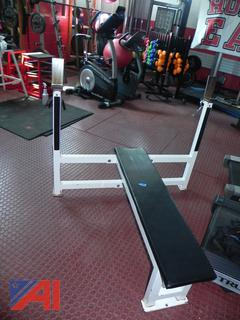 (#8) Flat Bench with Rack