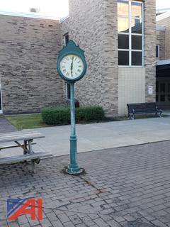 Outdoor Post Clock