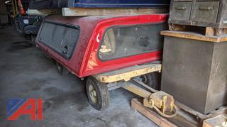 Red 8' Truck Cap