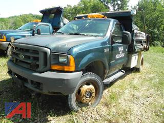 1999 Ford F550 Dump Truck with Plow