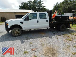 2008 Ford F350 Super Duty Crew Cab Flatbed Truck