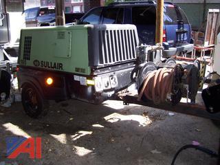 2010 Sullair 185DPQ Air Compressor on Trailer