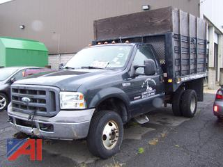 2005 Ford F350 XL Super Duty Stake Dump Truck