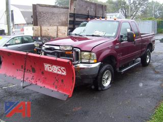 2004 Ford F250 Super Duty Pickup Truck with Plow