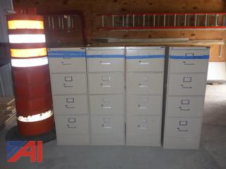 (#1612) Metal Office File Cabinets