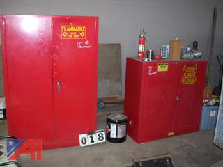 Flammable Cabinet with Contents