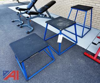 Steel Framed PLYO Boxes/Vertical Jump Stands