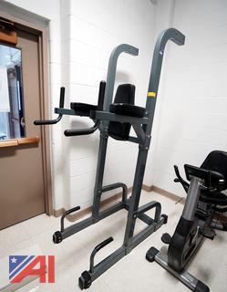 Key Fitness Power Tower Standing Dip Rack