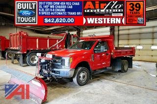 REDUCED BP 2017 Ford F350 XLT Super Duty Air-Flo Dump Truck with Plow