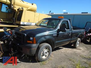 2007 Ford F250 Super Duty XL Pickup Truck with Plow