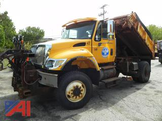 2005 International 7400 Dump Truck with Sander, Plow & Wing