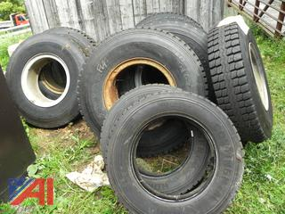 (#6) Various Sized Used Tires