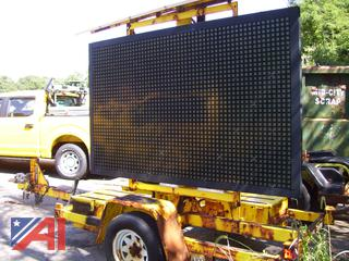 2012 Addco Solar Message Board Trailer, E#36793