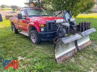 2010 Ford F350 XL Super Duty Pickup Truck with Plow
