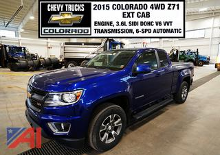 2015 Chevy Colorado Z71 Extended Cab Pickup Truck