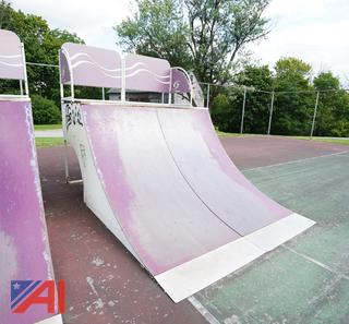 Skate Wave 1 Section 5' x 8' Quarter Pipe