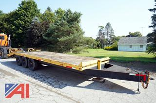1994 BE/BU Tri-axle Equipment Trailer with Ramps
