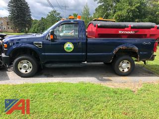 2009 Ford F350 XL Super Duty Pickup Truck with V-Plow & Sander