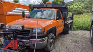 2007 GMC Sierra 3500 Dump Truck & Plow