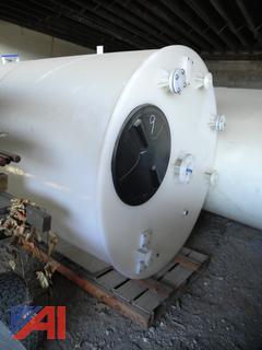 (#9) Burt Processing Equipment Large Plastic Tanks