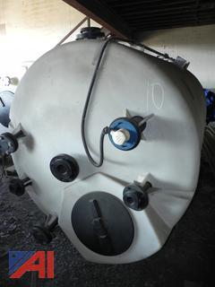 (#10) Burt Processing Equipment Large Plastic Tanks