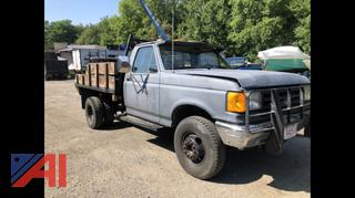 1989 Ford F450 Super Duty Flatbed Truck