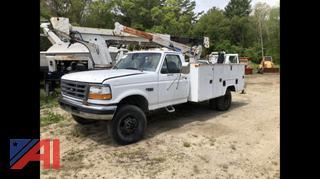 1996 Ford F350 XL Utility/Crane Truck