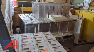 Sections of Metal Student Mail Boxes