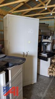 Double Door Cabinet & Filing Cabinets