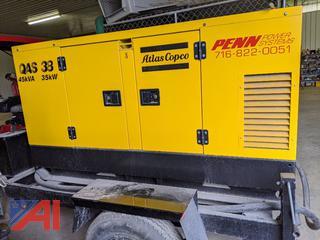 2000 Atlas Copco QAS38 Tow Behind Generator