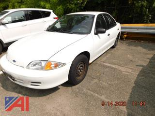 (#31) 2001 Chevy Cavalier 4 Door Sedan