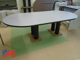 Wood Oval Meeting Table 4' x 8'
