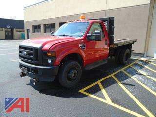 2008 Ford F350 Cab & Chassis with Flatbed