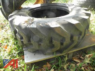 (#16) 10.5/80-18 Backhoe Tires, New/Old Stock