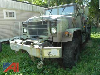 (#25)  2007 American General 5 Ton 6 x 6 Wrecker Truck with Winch