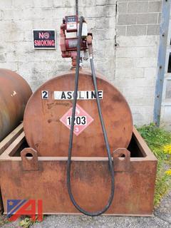 550 Gallon Gasoline Tank w/ Fill-Rite Pump and Secondary Containment