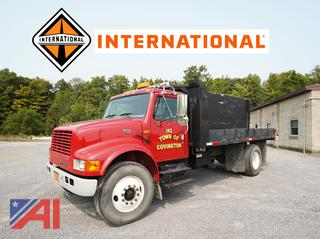 2001 International 4700 Tilting Flatbed Truck