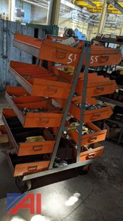 Wheel-E-Rack Stock Cart & Parker Hydraulic Fittings